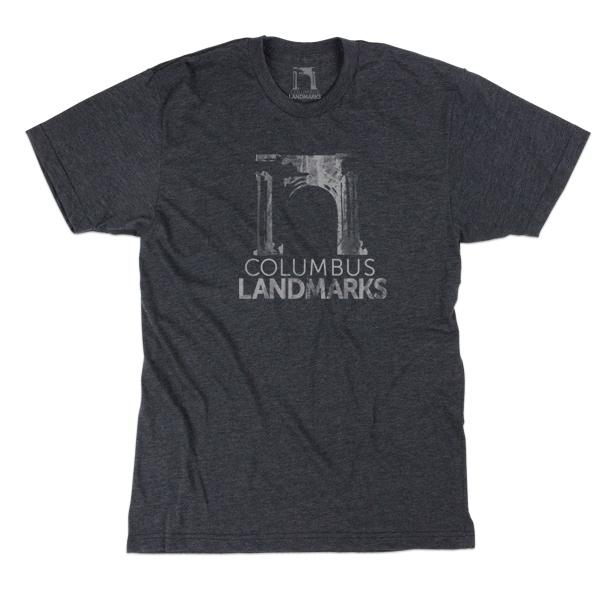 d1a9ef1f1b8 ... Columbus Landmarks logo s iconic sole surviving 1897 Union Station  Arch. Ultra-soft and available in charcoal with light grey or black ink +  heather ...